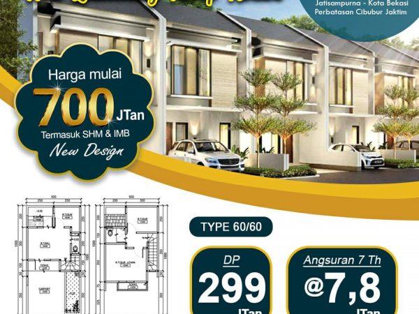 Kenanga Residence Cluster Syariah di Cibubur Jakarta Timur - Type 2 Lantai